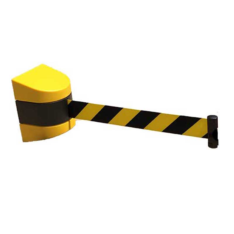 Retractable safety reel plastic metre black and