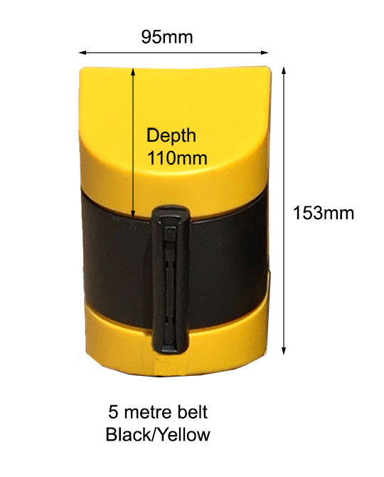 Plastic Wall Mount Retractable Barrier Dimensions